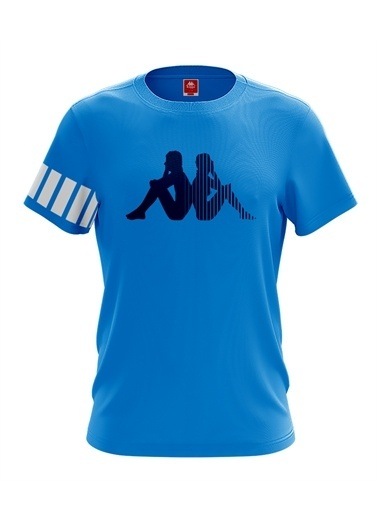 Kappa Baskılı T-Shirt Connery  Mavi